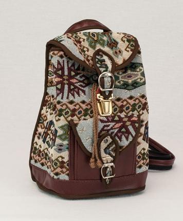 Little sac à dos Navajo pastel