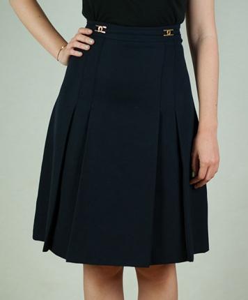 jupe bleu marine taille haute. Black Bedroom Furniture Sets. Home Design Ideas