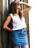 Crop top blanc en crochet