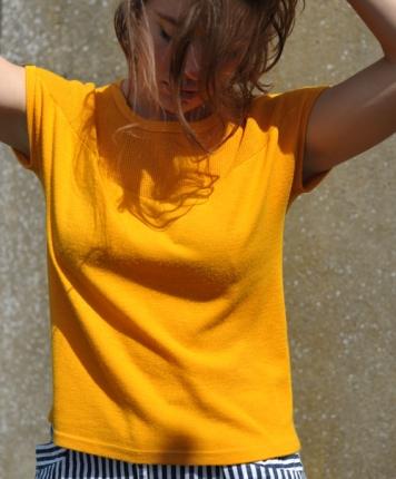 t-shirt 70's orange