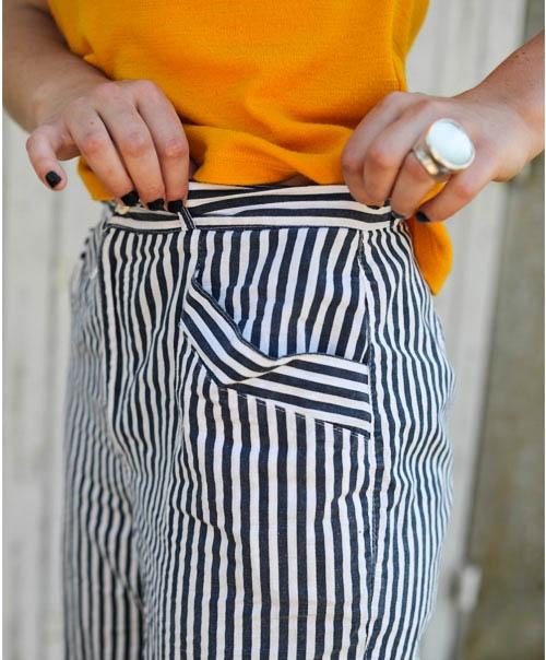 pantalon carotte rayé 8fb37be15e39
