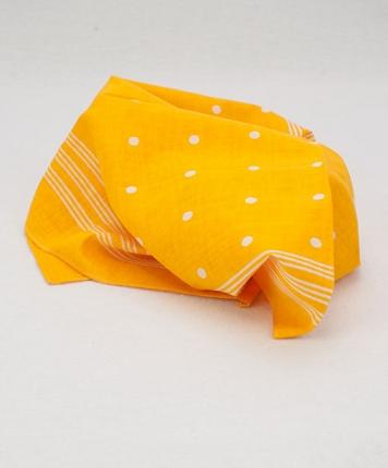Bandana jaune à pois