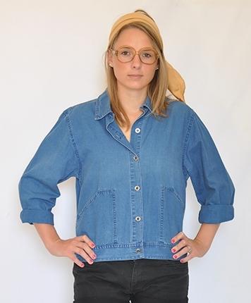 Chemise courte en jean