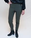 Legging cavalière vert kaki vintage