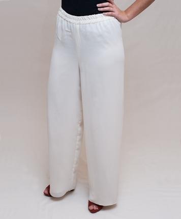 Pantalon coupe droite écru