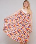 Maxi-robe drapée multicolore