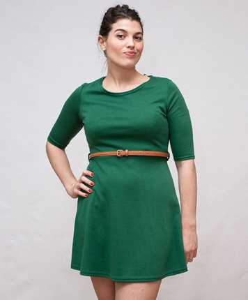 Robe tunique verte 60's