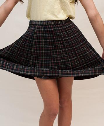 Jupe plissée écolière