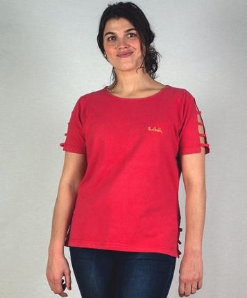 t-shirt 80's rouge